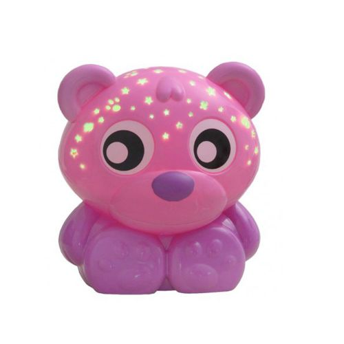 Proiector cu lumina de veghe Playgro Goodnight Bear pink imagine hippoland.ro