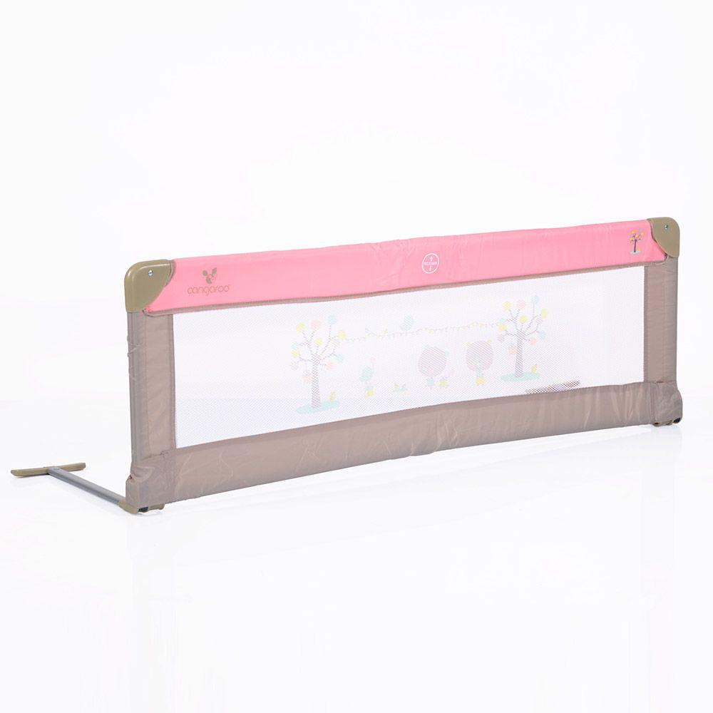 Aparatoare pentru pat Cangaroo 140 cm pink imagine hippoland.ro