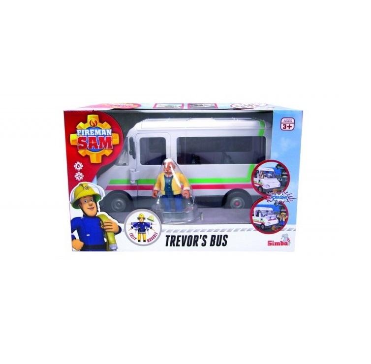 Autobuzul lui Trevor cu figurina Simba Sam Pompierul imagine hippoland.ro