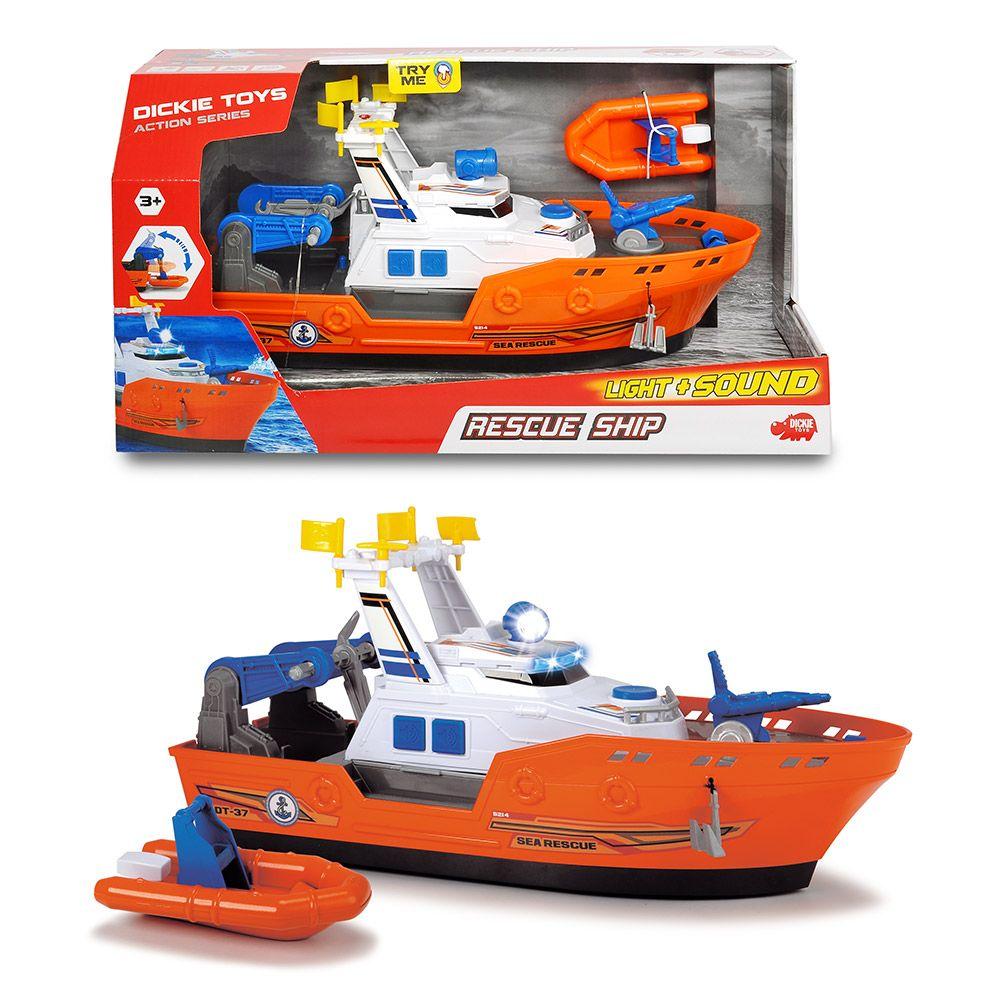 Barca de salvare cu sunete si lumini Dickie Rescue Ship imagine hippoland.ro