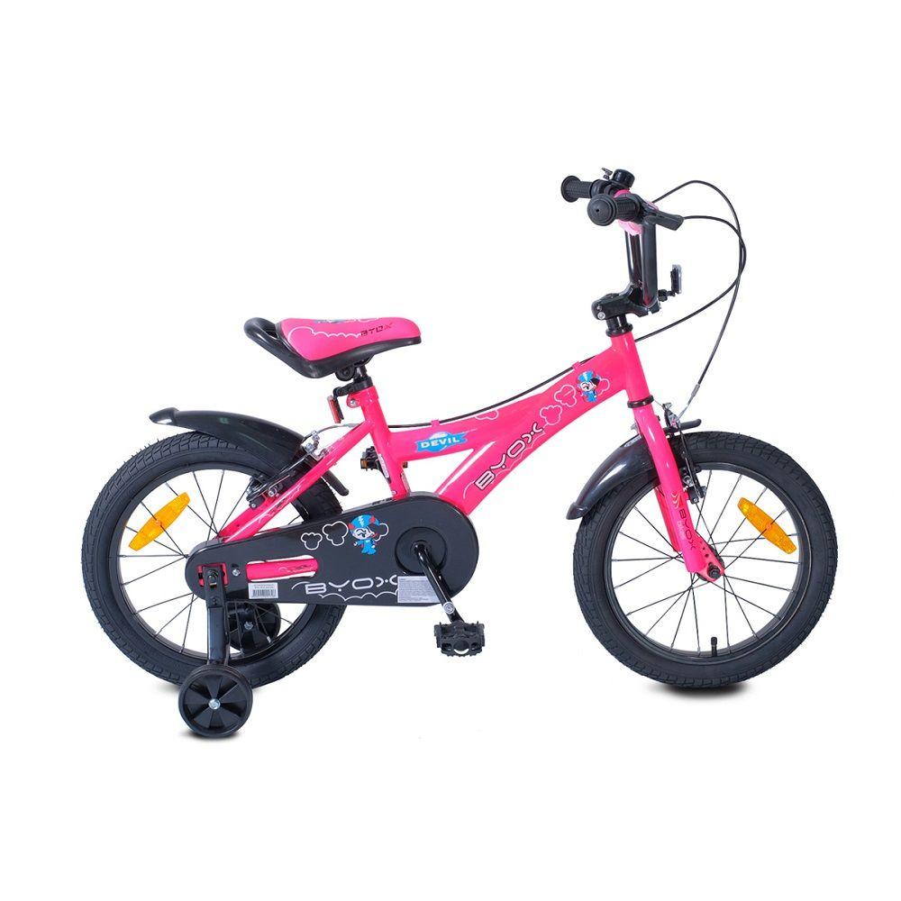 Bicicleta Byox Devil 16 inch Pink imagine hippoland.ro