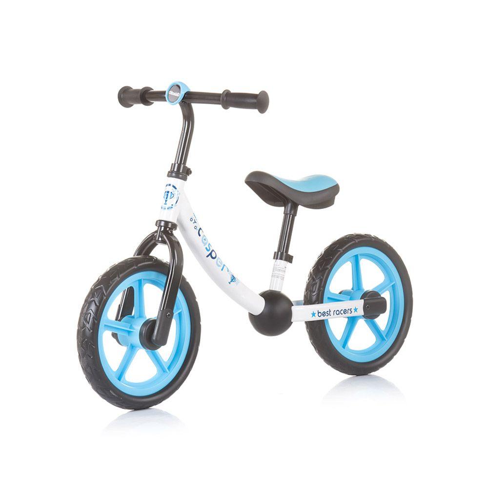 Bicicleta fara pedale Chipolino Casper White Blue imagine hippoland.ro