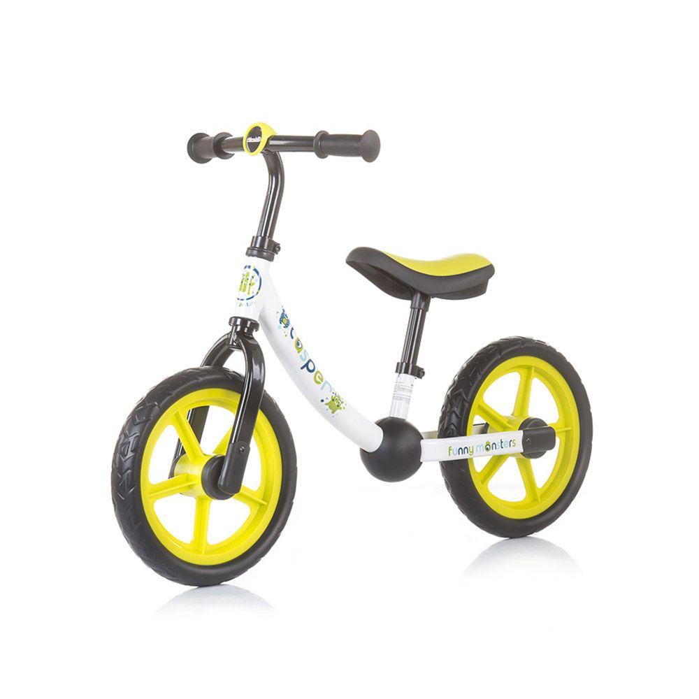 Bicicleta fara pedale Chipolino Casper White Green