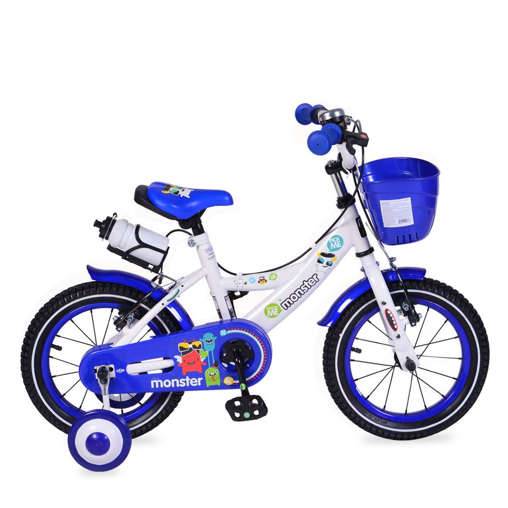 Bicicleta Moni 81 14 inch Blue imagine hippoland.ro