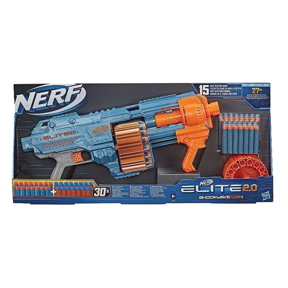 Blaster Hasbro Nerf Elite 2.0 Shockwave RD-15 imagine hippoland.ro