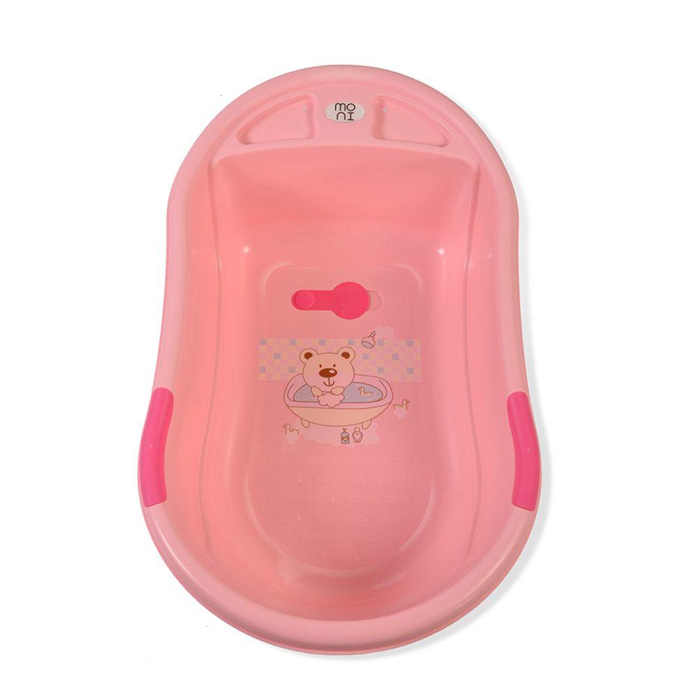 Cadita de baie cu suport Moni Lilly pink imagine hippoland.ro