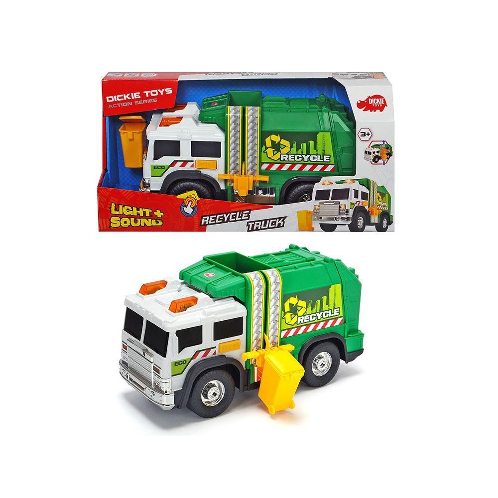 Camion de gunoi cu sunete si lumini Dickie