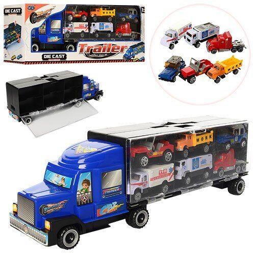 Camion transportator cu 6 masinute Top Speed imagine hippoland.ro