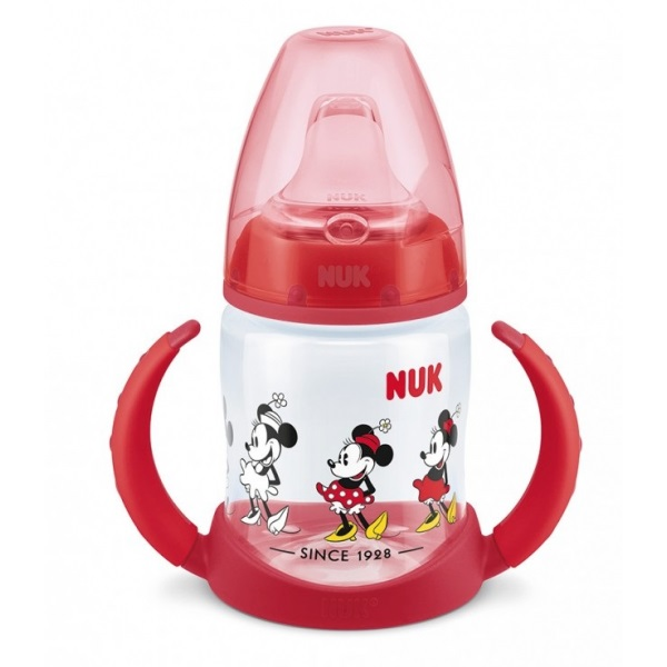 Cana cu manere Nuk Disney Mickey 150 ml red imagine hippoland.ro