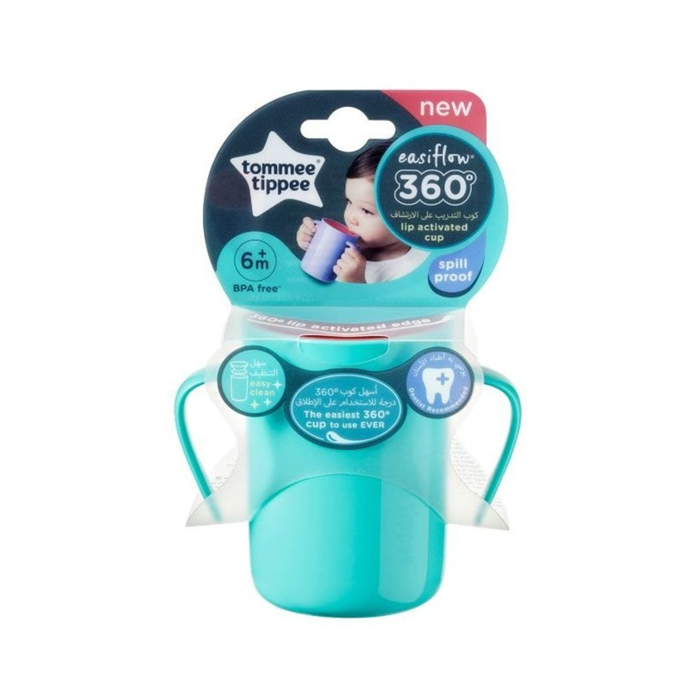 Cana cu manere Tommee Tippee Easy Flow 200 ml, 6 luni + imagine hippoland.ro