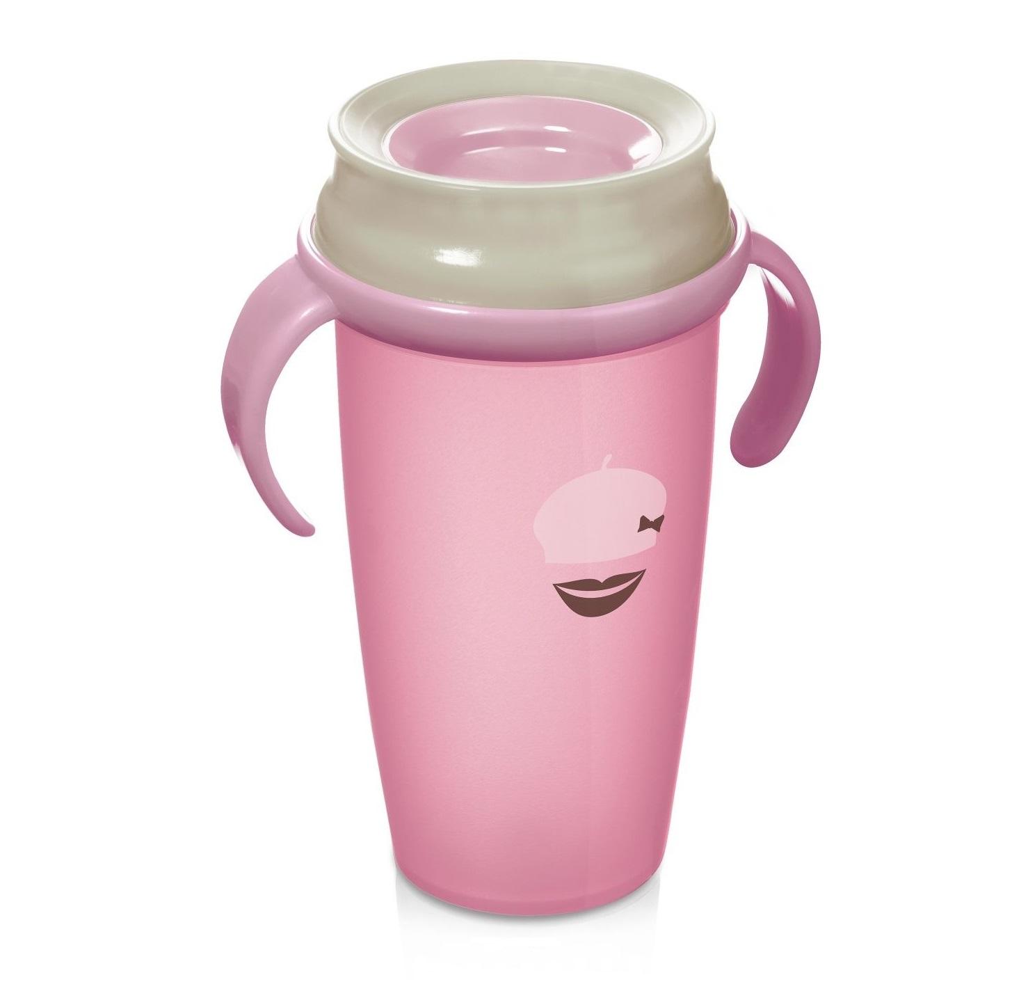 Cana retro cu toarte Lovi 360 Junior roz deschis 350 ml imagine hippoland.ro