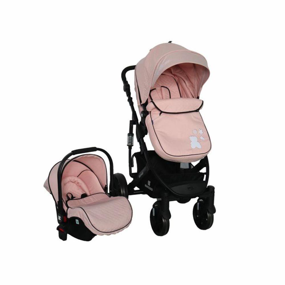 Carucior combinat 2 in 1 cu scaun auto Kikka Beloved 2020 Light Pink imagine hippoland.ro