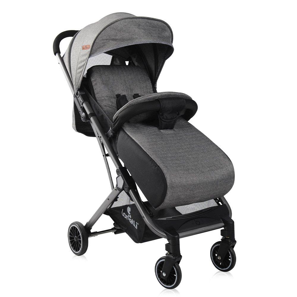 Carucior combinat cu acoperitoare Lorelli Premium Fiona 2019 dark grey imagine hippoland.ro