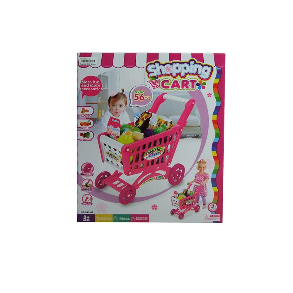 Carucior de cumparaturi cu accesorii Ocie Pink