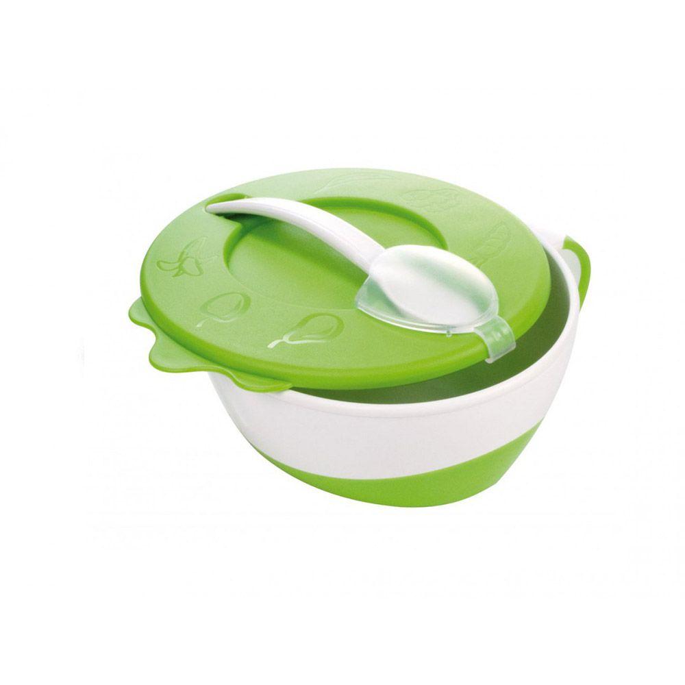Castronas cu lingura 350 ml Canpol green imagine hippoland.ro