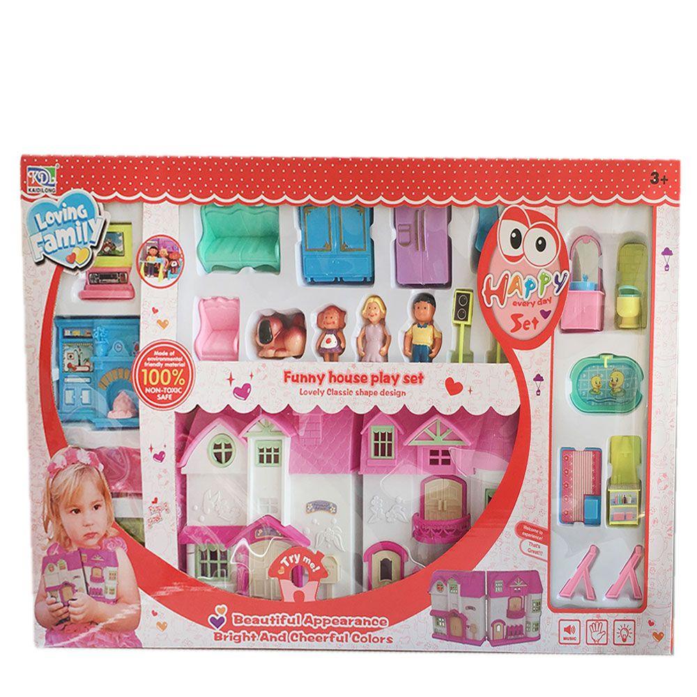 Casuta de papusi cu mobila Loving Doll
