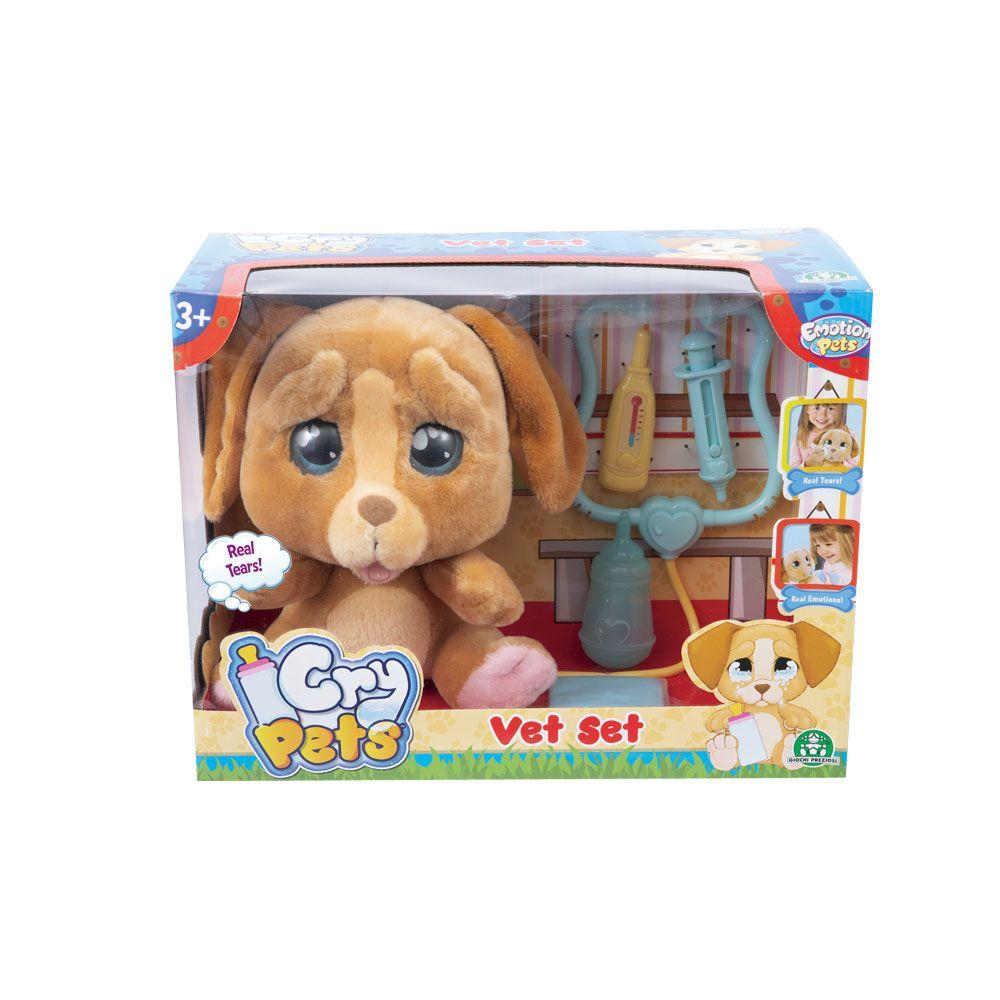 Catelus de plus care plange Cry Pets set veterinar imagine hippoland.ro