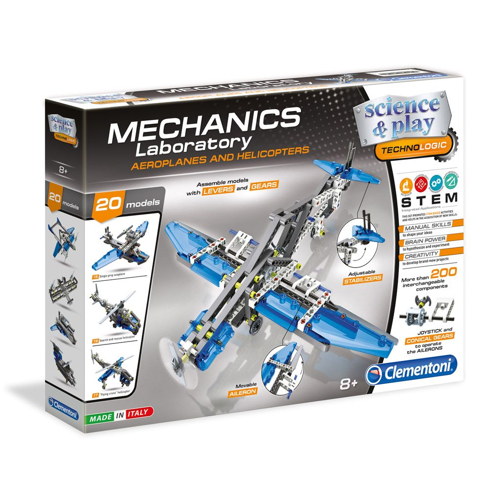 Clementoni Mechanics Laboratory Avioane si Elicoptere imagine hippoland.ro
