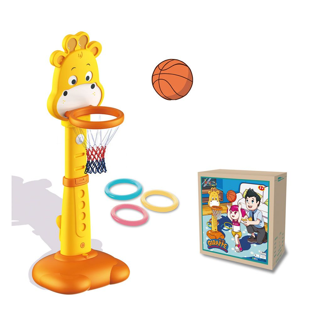 Cos de baschet cu minge King Sport Giraffe 150 cm imagine hippoland.ro