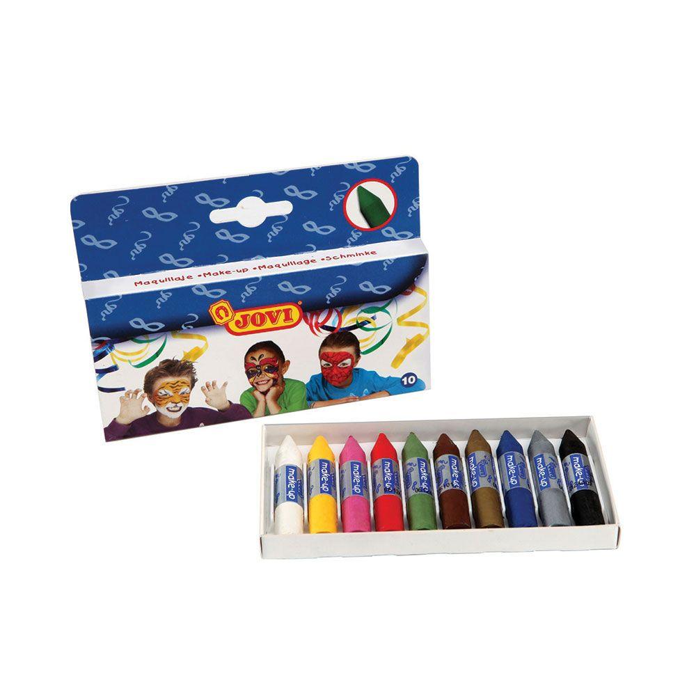 Creioane pentru vopsit pe fata Jovi 10 culori imagine hippoland.ro