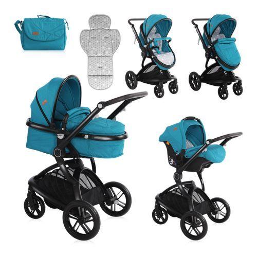 Carucior combinat 2 in 1 cu scaun de masina Lorelli Lumina 2018/2019 dark blue