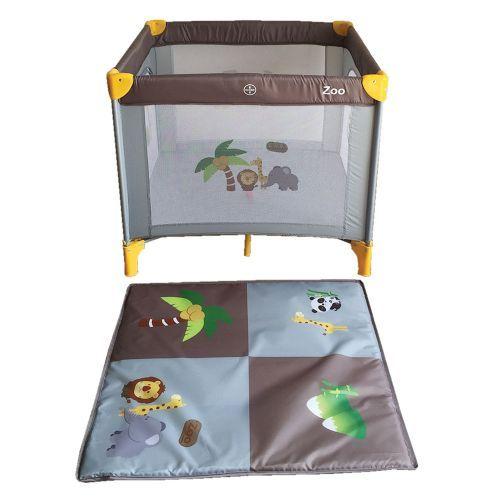 Tarc de joaca 93 x 93 x 78 Bebino Playard zoo grey