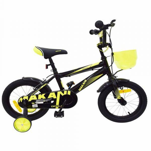 Bicicleta Kikka Makani Diablo 12 inch Black Yellow