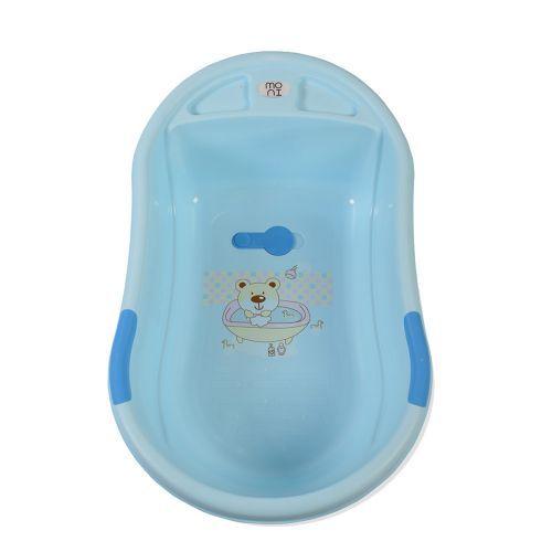 Cadita de baie cu suport Moni Lilly blue