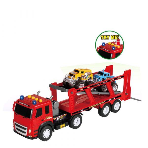 Camion transportator cu 2 masinute City Truck