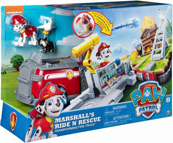 Camionul transformator de pompieri Paw Patrol Marshal Ride N Rescue