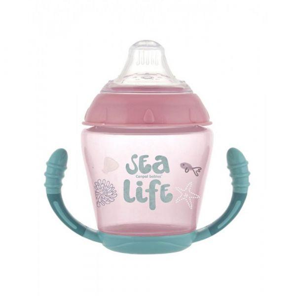 Cana antivarsare Canpol Sea Life 230 ml 9 luni +
