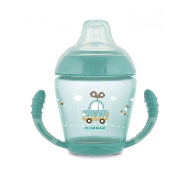 Cana antivarsare Canpol Toys turquoise 230 ml 9 luni +