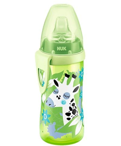 Cana cu duza din silicon Nuk Active Cup 300 ml pink, green