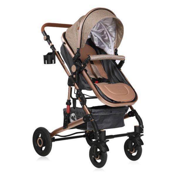 Carucior combinat 2 in 1 cu scaun auto Lorelli Alba 2020 dark beige 2059