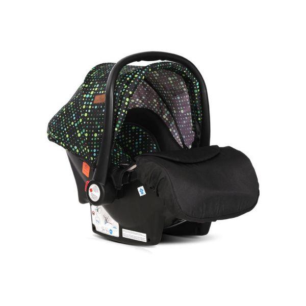Carucior combinat 2 in 1 cu scaun de auto Lorelli Alba 2020 black circles