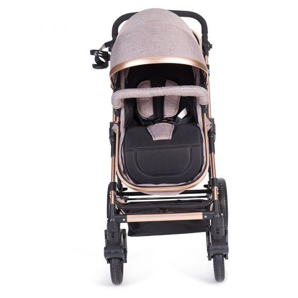 Carucior combinat 2 in 1 cu scaun de masina Kikka Darling 2019 beige