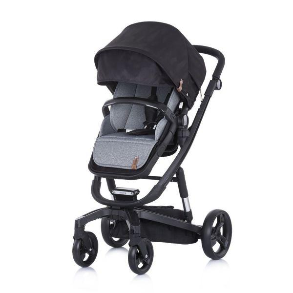 Carucior combinat 3 in 1 cu scaun auto si landou Chipolino Electra 2020 black