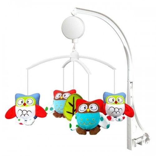 Carusel muzical pentru patut si tarc Chipolino little owls