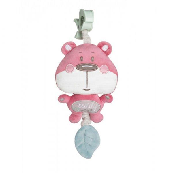 Jucarie moale cu sunete Canpol Pastel Friends pink  0 luni +
