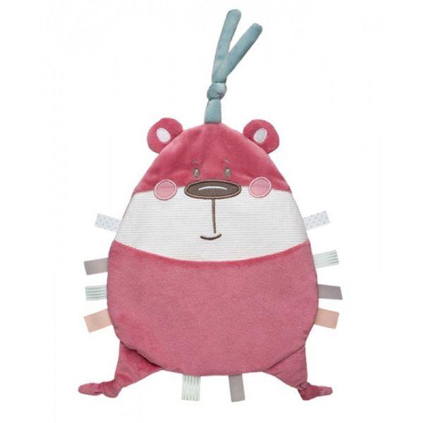 Jucarie moale paturica Canpol Pastel Friends pink 0 luni +
