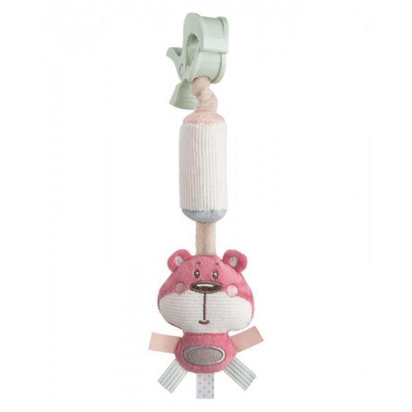Jucarie moale pentru bebelusi Canpol Pastel Friends pink