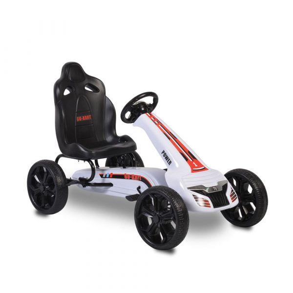 Kart cu pedale Moni Olympus White
