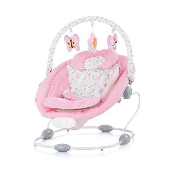 Leagan electric 2 in 1 cu vibratii Chipolino Paradise pink