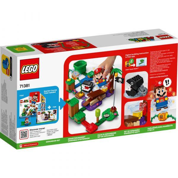 Lego Super Mario Set de extindere Jungla cu Chain Chomp 71381