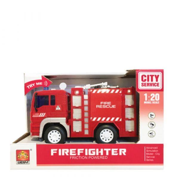 Masinuta de pompieri City Service 1:20