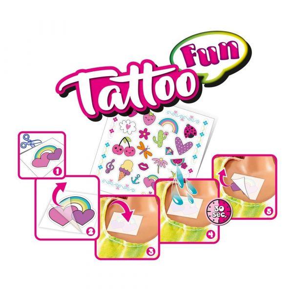 Papusa Simba Stefi Love cu tatuaje Tattoo Fun