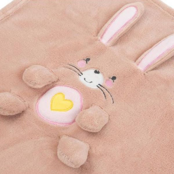 Paturica cu broderie pentru bebelusi 75 x 100 cm Kikka Boo Bunny