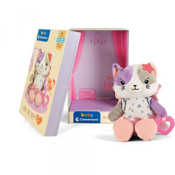 Pisicuta de plus pentru bebelusi Clementoni Katy The Kitty 17420