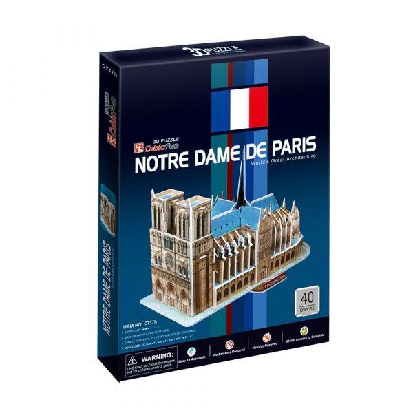 Puzzle 3D Cubic Fun 40 piese Notre Dame de Paris