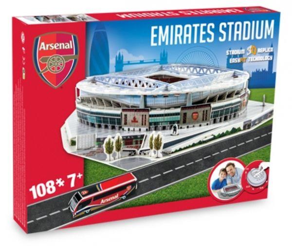 Puzzle 3D stadion Nanostad Emirates Stadium Arsenal